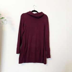H by Halston Long Burgundy Sweater